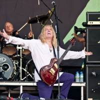 One louder: Spinal Tap performs at Britain's Glastonbury festival in 2009. | CHRIS BOLAND / WWW.BOLANDACTORHEADSHOTS.CO.UK