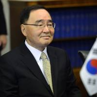 South Korean Prime Minister Chung Hong-won attends a meeting at the Finnish Parliament in Helsinki, in this file picture taken Oct. 24, 2013. South Korean Prime Minister Chung resigned on April 27, 2014 over the government's response to the April 16, 2014 Sewol ferry disaster.  | REUTERS