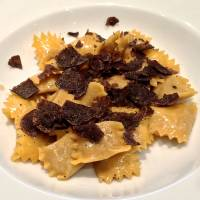 Agnolotti del plin, a Piedmontese version of ravioli stuffed with three kinds of meat (beef, pork and rabbit) and topped with truffles. | ROBBIE SWINNERTON