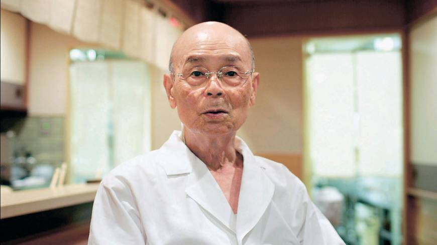 Sushi legend Jiro Ono, in a still photo from 'Jiro Dreams of Sushi,' a  documentary directed by David Gelb