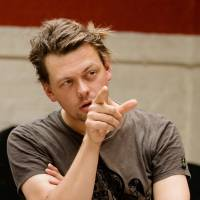 In the zone: Playwright Simon Stephens makes a point during rehearsals at the Royal Court Theatre in London. | © S. KANE