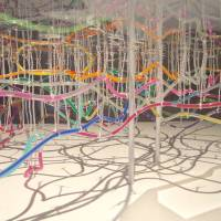 Ant nest: Takatsugu Kuriyama used water hoses and multicolored ink to create a 3-D map of the underground railway lines in Tokyo. | COURTESY OF TAKATSUGU KURIYAMA