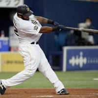 On the stampede: Buffaloes slugger Wily Mo Pena is firing on all cylinders early this season. | KYODO