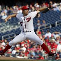 Strasburg strikes out 12 as Nationals sweep away Marlins