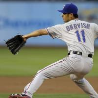 Darvish struggles against A's