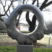 Ring of stone: A stone sculpture sits in Rokudoyama Park. | MARK SCHILLING