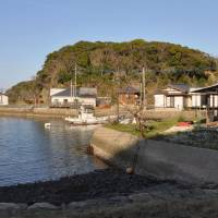 The Tsushima Resort, a South Korean-owned business, is shown last month on the island, which situated between the Korean Peninsula and Nagasaki Prefecture. | KYODO