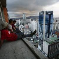 Caracas poor find haven in 'skyscraper slum'