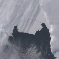 The B-31 Iceberg is seen before it separated from a rift in Antarctica's Pine Island Glacier in this NASA Earth Observatory handout image taken Oct. 28. Scientists are monitoring the unusually large iceberg, which is roughly six times the size of Manhattan and is heading into the open ocean. | REUTERS