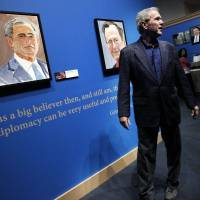 Portraits by George W. Bush go on display