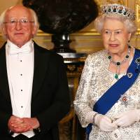 Queen hosts Irish president on first U.K. state visit