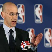 NBA commissioner Adam Silver addresses the media in New York on Tuesday. | AP