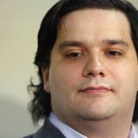 Mark Karpeles, chief executive officer of Mt. Gox, attends a news conference at the Tokyo District Court on Feb. 28. | REUTERS