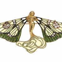 "Rene Lalique ""Brooch, Winged Sylph"" (c.1900) 