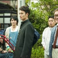 Pleasures of a big family: Yukio (played by 24-year-old Masaki Okada) with his four eccentric dads in the new comedy 'Oh! Father.' | © 2014 YOSHIMOTO KOGYO