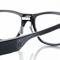 The Jins Meme glasses feature a technology called 3point Electro Oculogy Sensor that monitors eye fatigue.