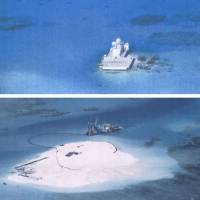 China 'building airstrip' on disputed reef