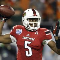 Among the top options: Louisville product Teddy Bridgewater is considered one of the best quarterbacks available for NFL teams to select in this week's draft. | AP