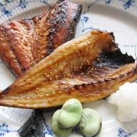 Mirin-boshi is a fish dish that has been marinated in a mirin mixture. | MAKIKO ITOH