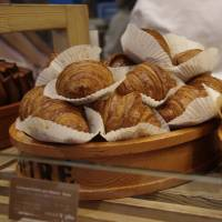 Perfect pastry: Maison du Beurre's Echire butter croissants are so popular that they sell out by noon on weekdays.   ANGELA ERIKA KUBO