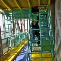 Run through: A large obstacle course for the kids is the perfect way to start a day at Osaka's Big Bang Science Museum.   JASON JENKINS