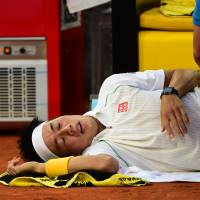 Nishikori pulls out of Rome Masters, to have MRI on injury