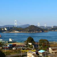 Kurushima-Kaikyo Bridge, the longest suspension bridge in the world, seen from Imabari. | ANGELES MARIN CABELLO