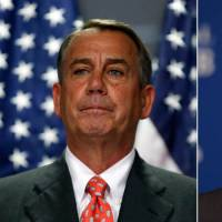 On the record: Recent comments by Republican politicians such as House Speaker John Boehner (left) and presidential hopeful Sen. Marco Rubio of Florida are leading young scientists in the United States to question the sanity of their leaders, and humanity as a whole. | REUTERS, AP