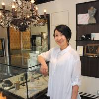 Natsuko Shiraki, CEO of Hasuna Co., smiles at her shop in Tokyo's Omotesando district on April 15. | SATOKO KAWASAKI