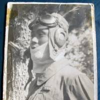 Liu Shu-fa wears his flying outfit in an undated photo from World War II. | KYODO