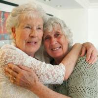 Twins separated at birth reunite across the Atlantic 78 years later