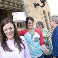 Liberal town in U.S. Bible Belt issues first same-sex marriage licenses
