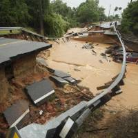 Floods batter U.S. Southeast reeling from deadly tornados
