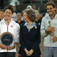 Nadal wins Madrid Open after Nishikori retires
