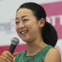 Time for a break: Mao Asada speaks during a news conference in Tokyo on Monday. | AP
