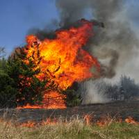 1,000 flee, one dead, as Oklahoma wildfire spreads