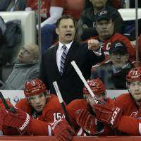 Not satisfactory: After three seasons in charge, Carolina Hurricanes coach Kirk Muller was fired on Monday. The Hurricanes were 80-80-27 during Muller's tenure and missed the playoffs in all three seasons. | AP