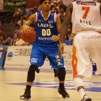 Test of nerves: Guard Brandon Fields and the Shiga Lakestars will look to bounce back in Game 2 on Sunday. | TAKASHI SATO