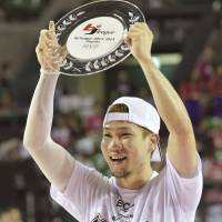 By royal decree: Ryukyu's Yuichi Kishimoto was named the bj-league playoff MVP. | KYODO