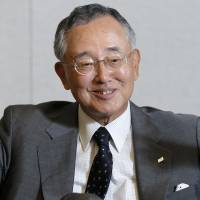 Yoshihiko Miyauchi, chairman and CEO of Orix Corp., is interviewed at the company's Tokyo headquarters in June last year. | BLOOMBERG