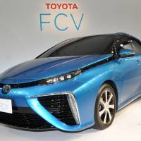 Toyota Motor Corp.'s first hydrogen fuel cell sedan, which the automaker said Wednesday will soon go on sale in Japan. | TOYOTA MOTOR CORP.