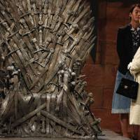 U.K. queen visits 'Game of Thrones' set in North Ireland