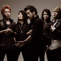 Rock rules: Osaka's Crossfaith includes (from left) Kazuki Takemura, Hiroki Ikegawa, Kenta Koie, Terufumi Tamano and Tatsuya Amano. | THE BAND HAS BEEN MAKING AN IMPACT OVERSEAS, WHICH HAS RESULTED IN AWARD NOMINATIONS.