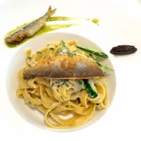Seasonal catch: Linguine with ayu (sweetfish) and liver. | ROBBIE SWINNERTON