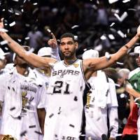 Legendary performer: Spurs big man Tim Duncan has won five NBA titles during his sensational career.  | REUTERS/USA TODAY
