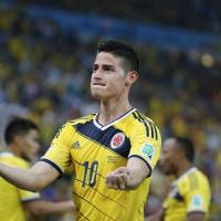 Bring it on: Colombia's James Rodriguez is confident ahead of his team's match against Brazil in the World Cup quarterfinals on Friday. | REUTERS