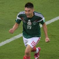 El Tri: Mexico's Oribe Peralta exults after scoring a goal on Friday. | AFP-JIJI