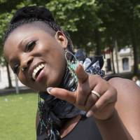 Singer Alama Kante, who had throat surgery under medical hypnosis, hangs out in Paris on Monday. | REUTERS