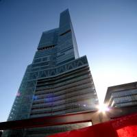 Abeno Harukas, operated by Kintetsu Corp., is Japan's tallest skyscraper.   BLOOMBERG