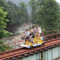 Abandoned railway reborn as theme park